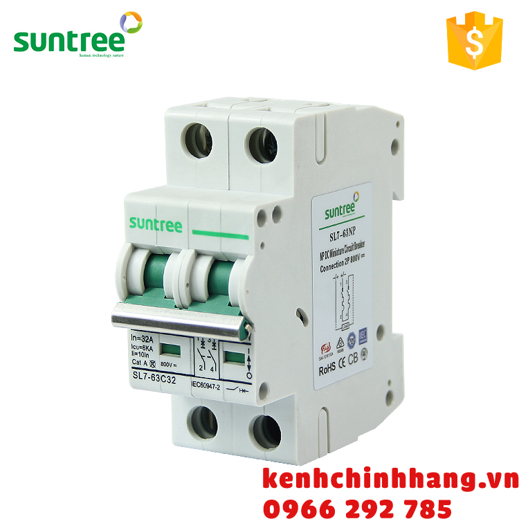 Aptomat MCB 4P 16A 1000VDC